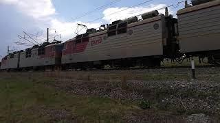 Электровоз вл80с - 406/407 с думпкарной вертушкой
