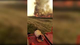 В Баймакском районе Башкирии бушует природный пожар