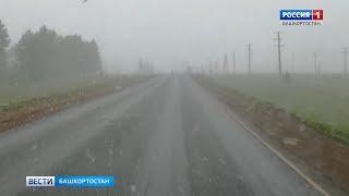 В Башкирии в первый день лета выпал снег