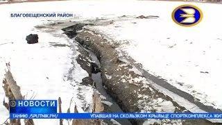 В Благовещенском районе Башкирии уходит под землю озеро Абызово.