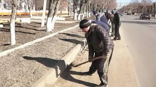 Первый весенний субботник в Михайловском районе
