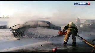 Жуткая авария в Башкирии: столкнулись три авто - один человек погиб, один пострадал