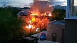 Ночной пожар в Благовещенске