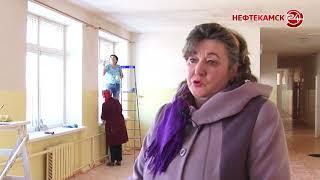 Протекшую крышу в школе №10 ремонтируют