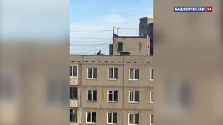 «В руках куски железа»: в Уфе засняли на видео бегающих по крыше подростков
