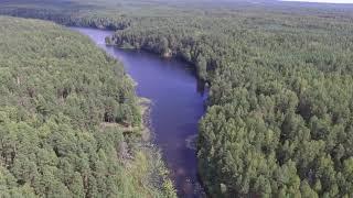 Полет над озером Глухое, Марий ЭЛ, национальный парк Марий Чодра