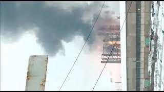 В Стерлитамаке произошел пожар на заводе СК