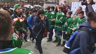 UTV. Уфимская женская хоккейная команда Агидель вернулась в Уфу чемпионом России