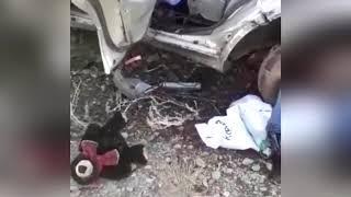 Жуткая авария под Лермоновкой в Хабаровском крае, легковушка влетела под грузовик 10 апреля 2019
