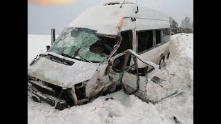 В Башкирии столкнулись два автобуса