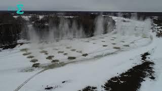 Паводок. Взрыв льда