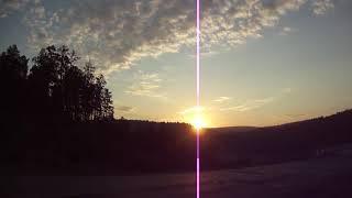 Восход солнца, красивый! БАШКИРИЯ р.Зилаир август 2018 год.