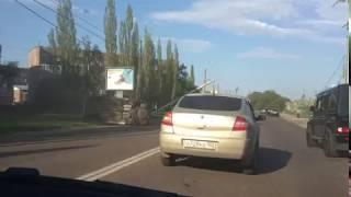 В Стерлитамаке водитель снес столб, машина перевернулась
