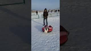 Ангелина поехала катается на тюбинге, тюбинг, Торатау, Башкирия, Шихан, поездка, гора, зима.