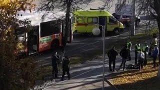 Двойное ЧП: на месте, где вспыхнул автобус в Уфе, произошла авария – Видео