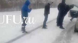 В Башкирии трассу Уфа-Баймак завалило снегом