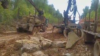 UTV. Лесозаготовители Башкирии сами строят дорогу. Власть отказывается им помочь