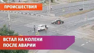 В Уфе произошла очередная авария на пустом перекрёстке