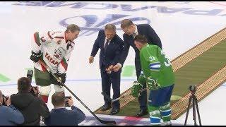 Башкирские хоккеисты одержали победу в матче ветеранов хоккея