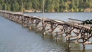 Белорецк, деревянный мост в плачевном состоянии (09.09.2018)
