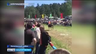 Лошадь протаранила толпу людей на Сабантуе: появилось видео ЧП в Башкирии