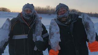 Зимняя Рыбалка  На Сети в -41/ Мы Выжили!