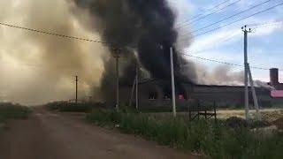 Почти 30 пожарных борются с последствиями возгорания в Уфимском районе