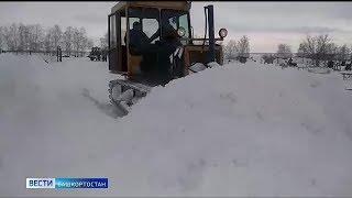 Башкирское Зауралье завалило метровыми сугробами
