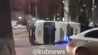 ДТП с каретой «скорой помощи» в Краснодаре, 28 февраля