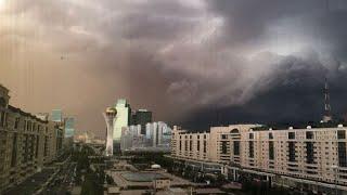 Шторм и град в Казахстане. Погода в СНГ