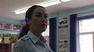 Полицейские проверили школу в Сипайлово перед началом учебного года