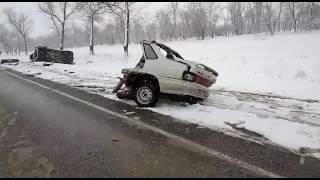 Лобовое ДТП Ставропольский край 30.11.2016