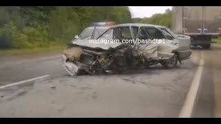 Один человек госпитализирован с места крупной аварии в Башкирии
