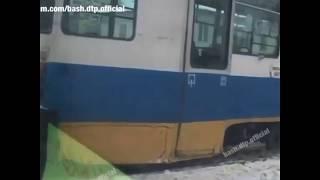 Трамвай сошел с рельсов в Уфе   Ufa1.RU