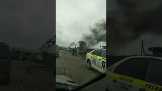 Страшная авария на трассе Кишинев-Бельцы: дотла сгорел бензовоз