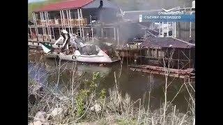 Загоревшийся в Самаре катер затонул, есть погибший