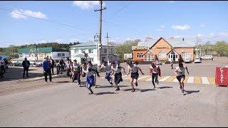 В Куюргазинском районе прошла эстафета ко Дню Победы