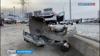 Появилось видео с момента смертельной аварии в Уфе