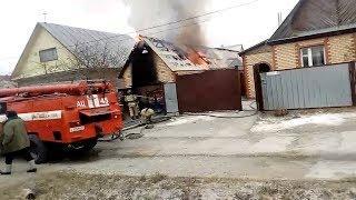 Пожар в Сибае после взрыва