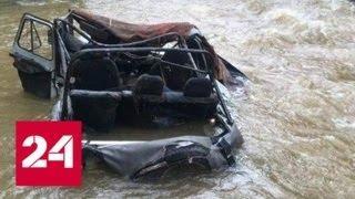 """Смертельная авария в Тыве: выбраться из """"УАЗа"""" смогли только двое мужчин - Россия 24"""