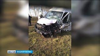 Маршрутка и легковушка лоб в лоб столкнулись в Башкирии: один человек погиб