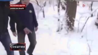 В Адыгее засняли снежного человека.