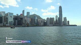 Съемочная группа «Руссо Туристо» побывала на лазерном шоу в Гонконге