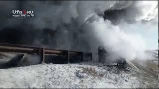 На трассе в Башкириии горят фуры