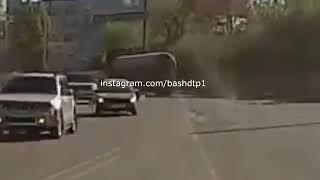 ДТП Уфа 09.05.2019 Терки фуры и кроссовера в Уфе
