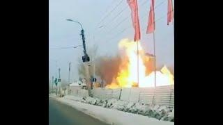 Момент взрыва на заправке в Шакше, Уфа   Ufa1.RU