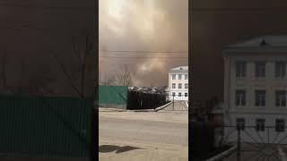 Лес горит у п. Карымское 07.05.2019г.