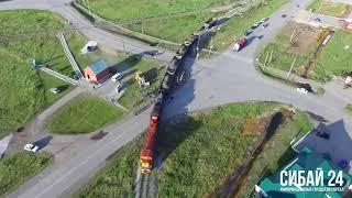 В Сибае с рельсов сошел грузовой поезд. 21 июня 2018 года