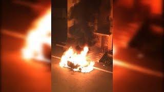 В Башкирии ночью сгорела машина