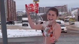Девушка облилась молоком у светофора   Ufa1.RU